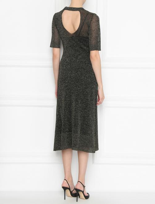 Платье трикотажное с люрексом - МодельВерхНиз1