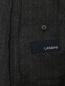 Двубортный костюм из смесовой шерсти в полоску LARDINI  –  Деталь2