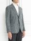 Пиджак однобортный из шерсти с узором LARDINI  –  Модель Верх-Низ