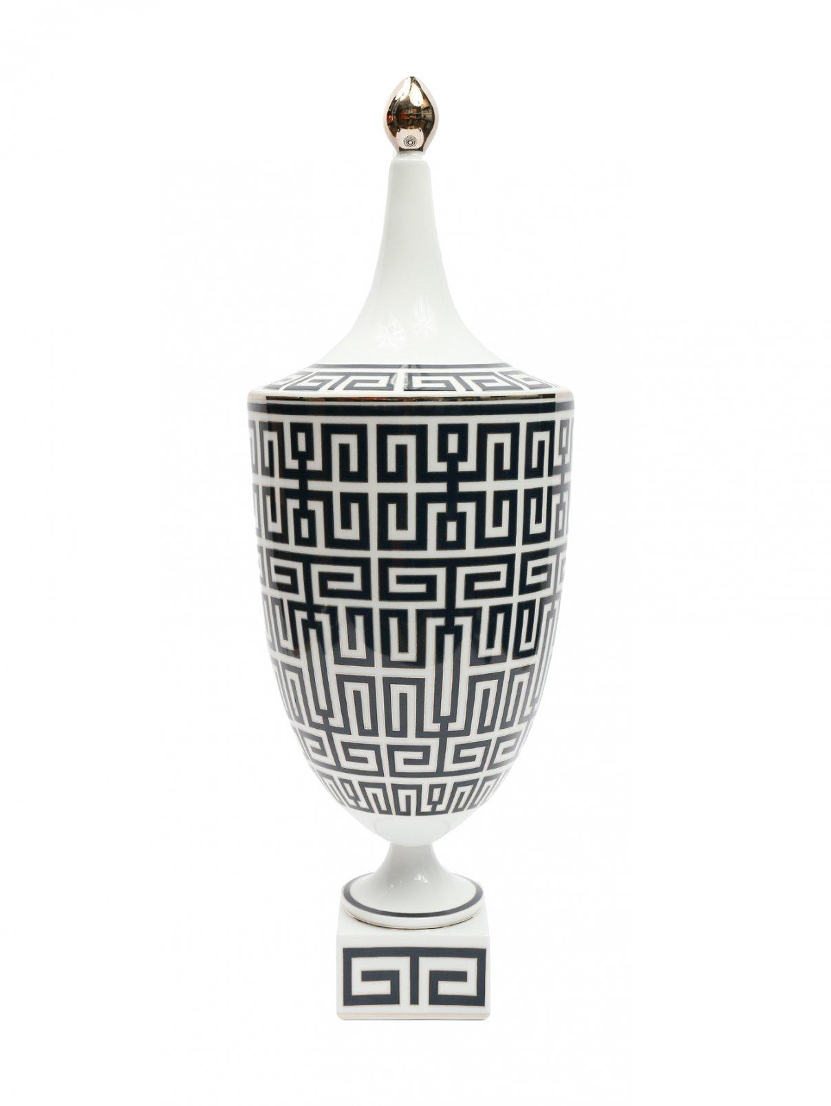 Фарфоровая ваза с орнаментом 16 x 48 Ginori 1735  –  Общий вид