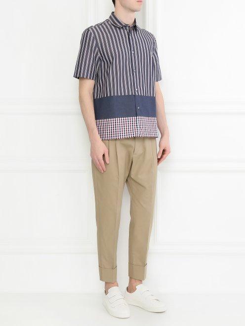 Рубашка из хлопка с коротким рукавом - Общий вид
