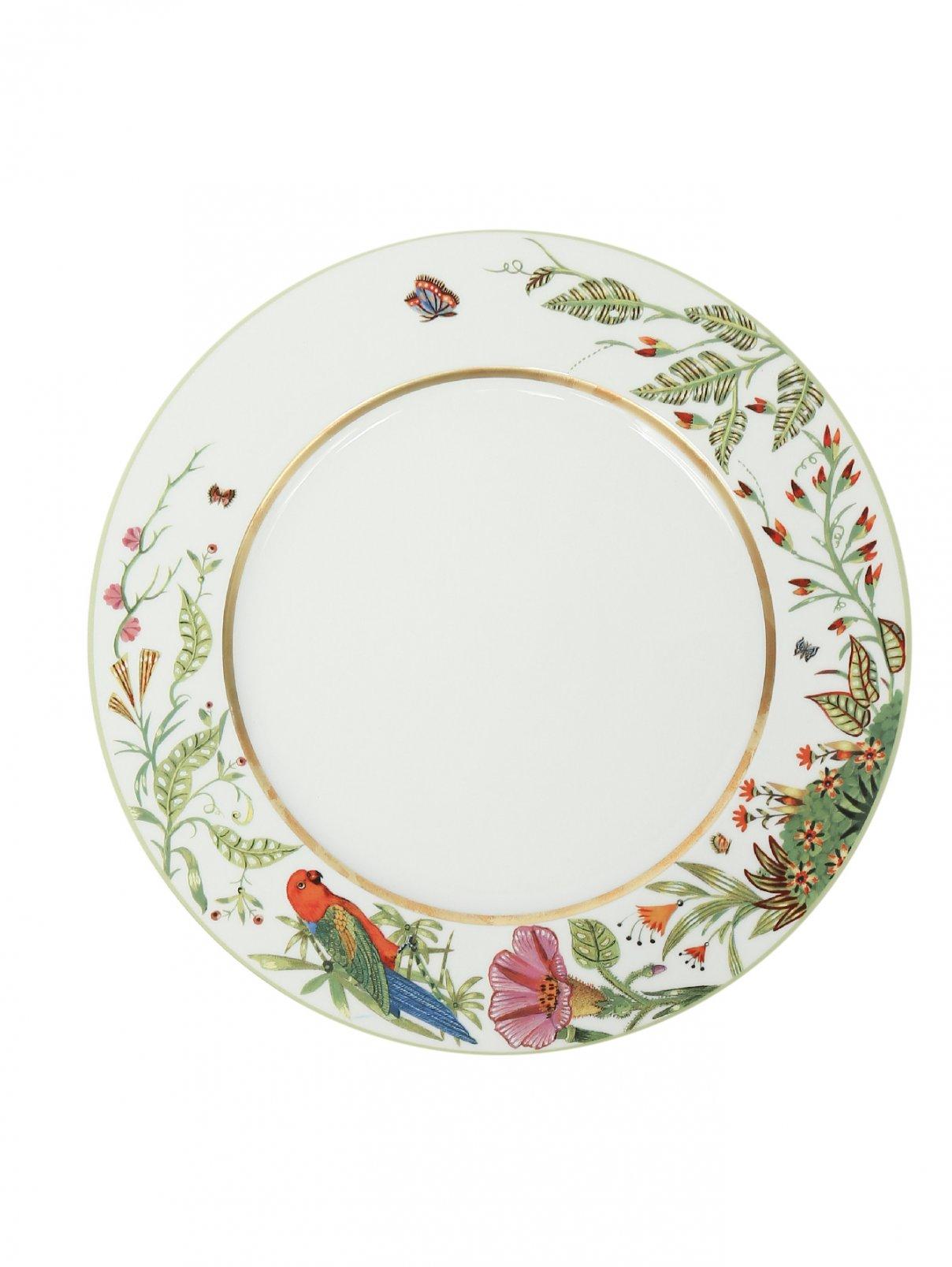 Тарелка обеденнная из фарфора с рисунком Haviland  –  Общий вид