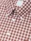 """Рубашка из хлопка с узором """"клетка"""" Brooks Brothers  –  Деталь"""