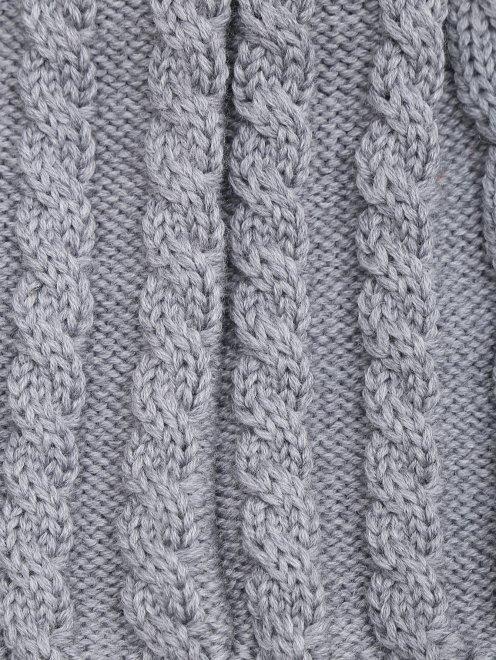 Шапка из шерсти фактурной вязки Catya - Деталь