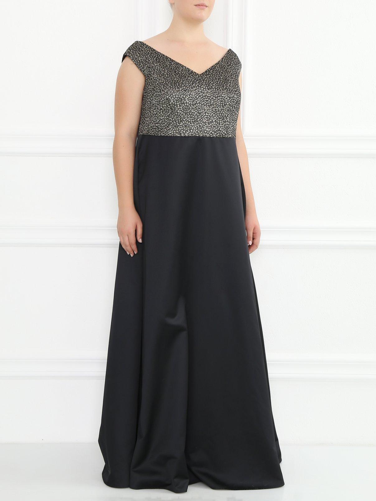 Платье-макси с узором Marina Rinaldi  –  Модель Общий вид