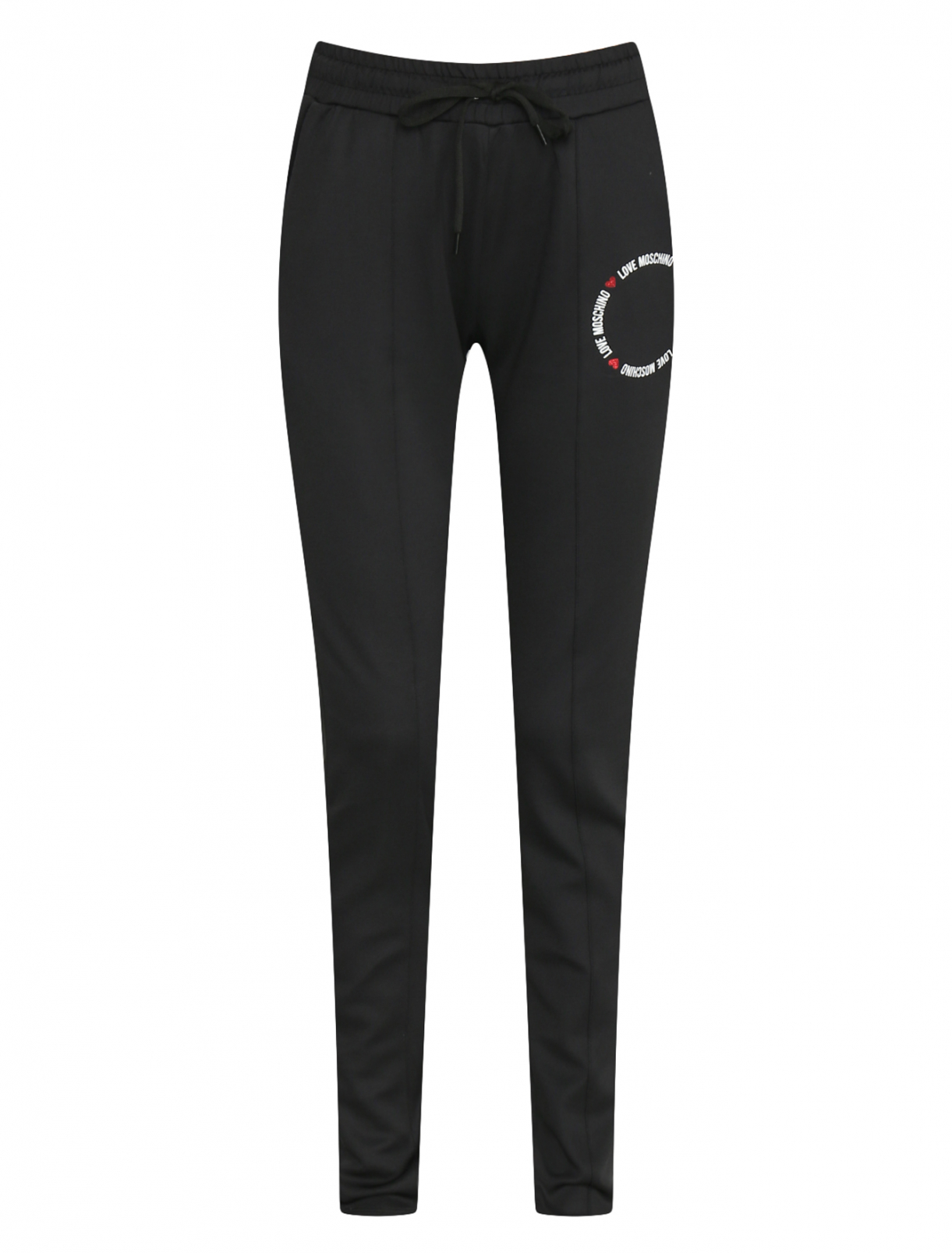 Трикотажные брюки с логотипом Love Moschino  –  Общий вид