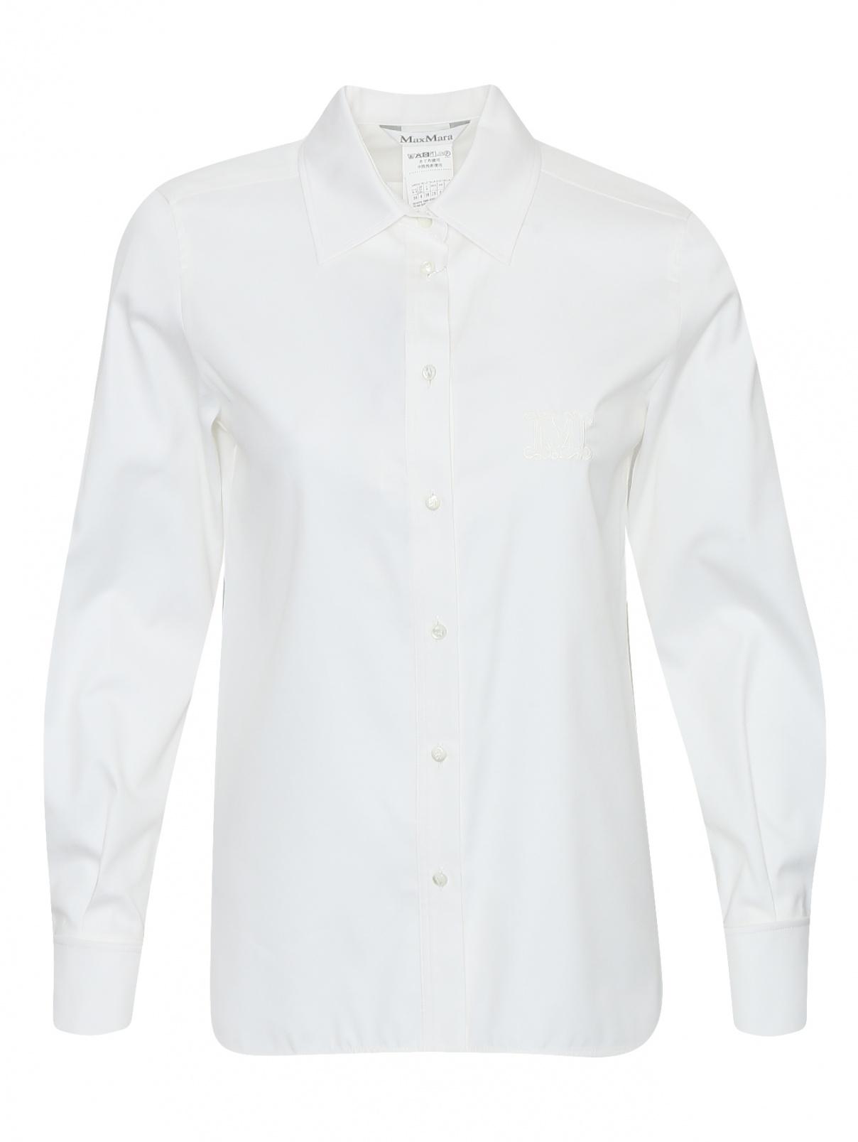 Блуза из хлопка и шелка Max Mara  –  Общий вид
