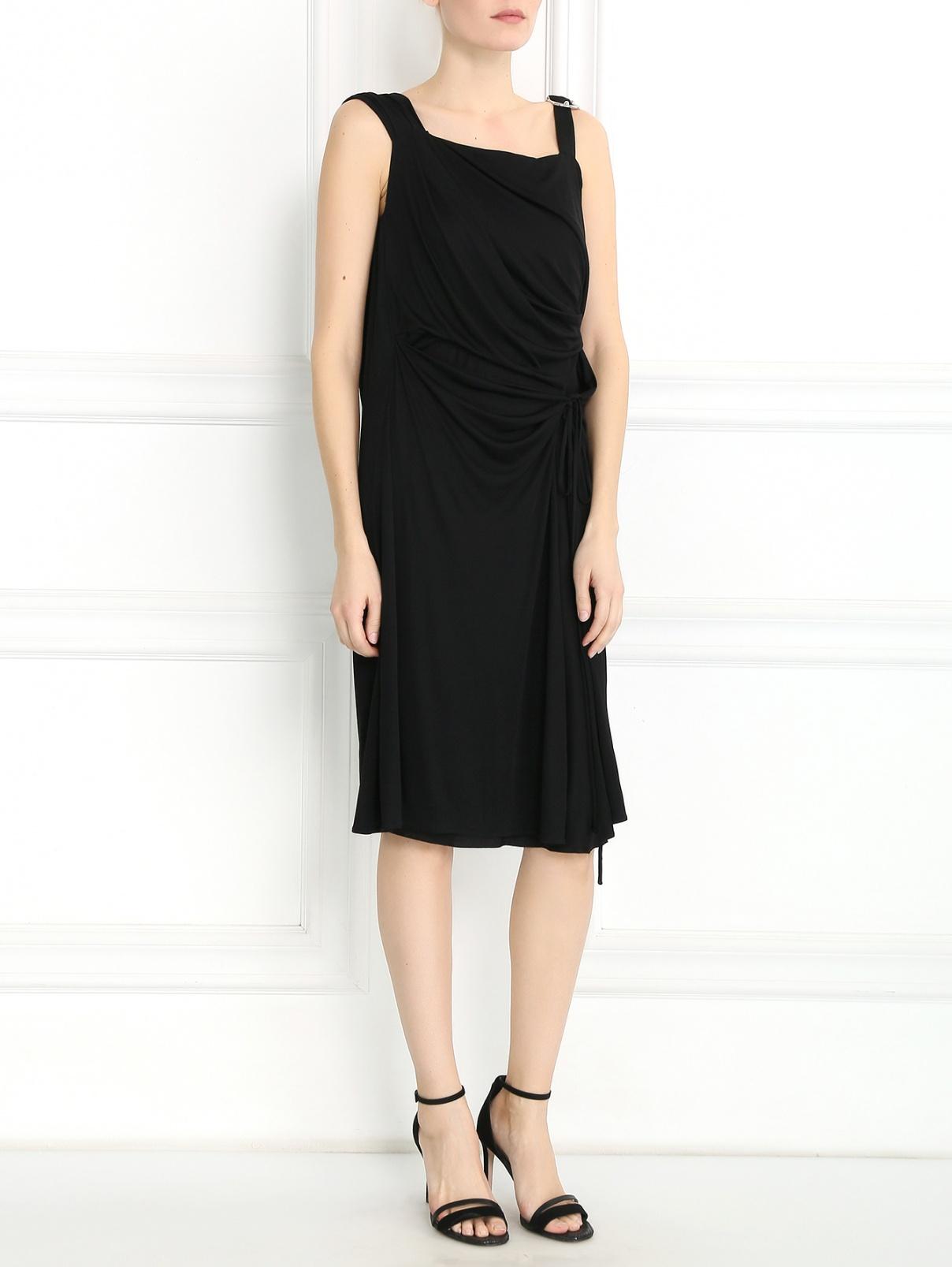 Платье-миди из шелка Alberta Ferretti  –  Модель Общий вид