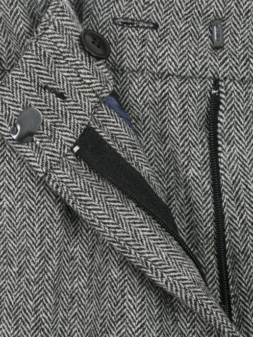 Укороченные брюки из шерсти с карманами - Деталь1