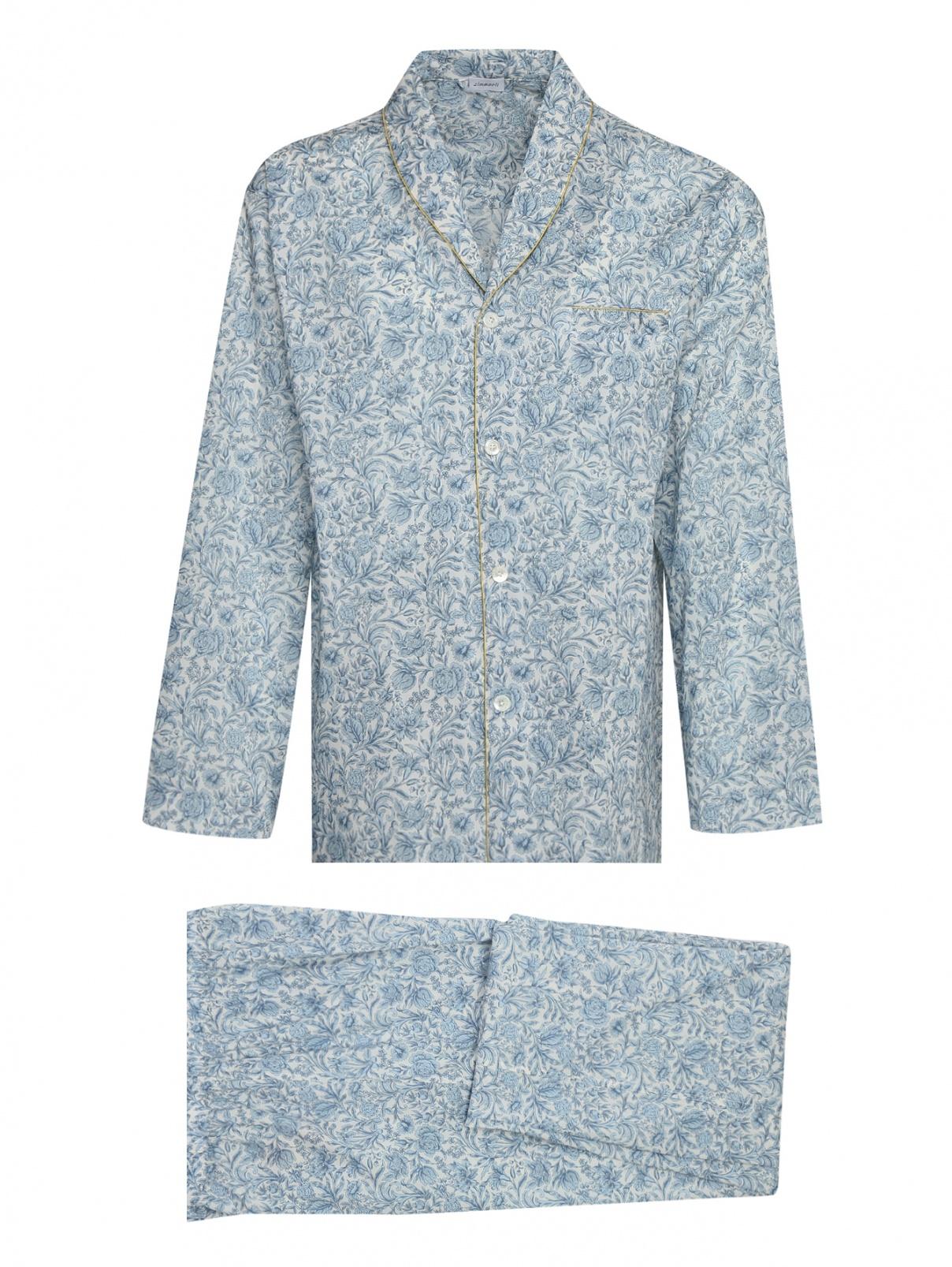 Пижама хлопковая с цветочным узором Zimmerli  –  Общий вид