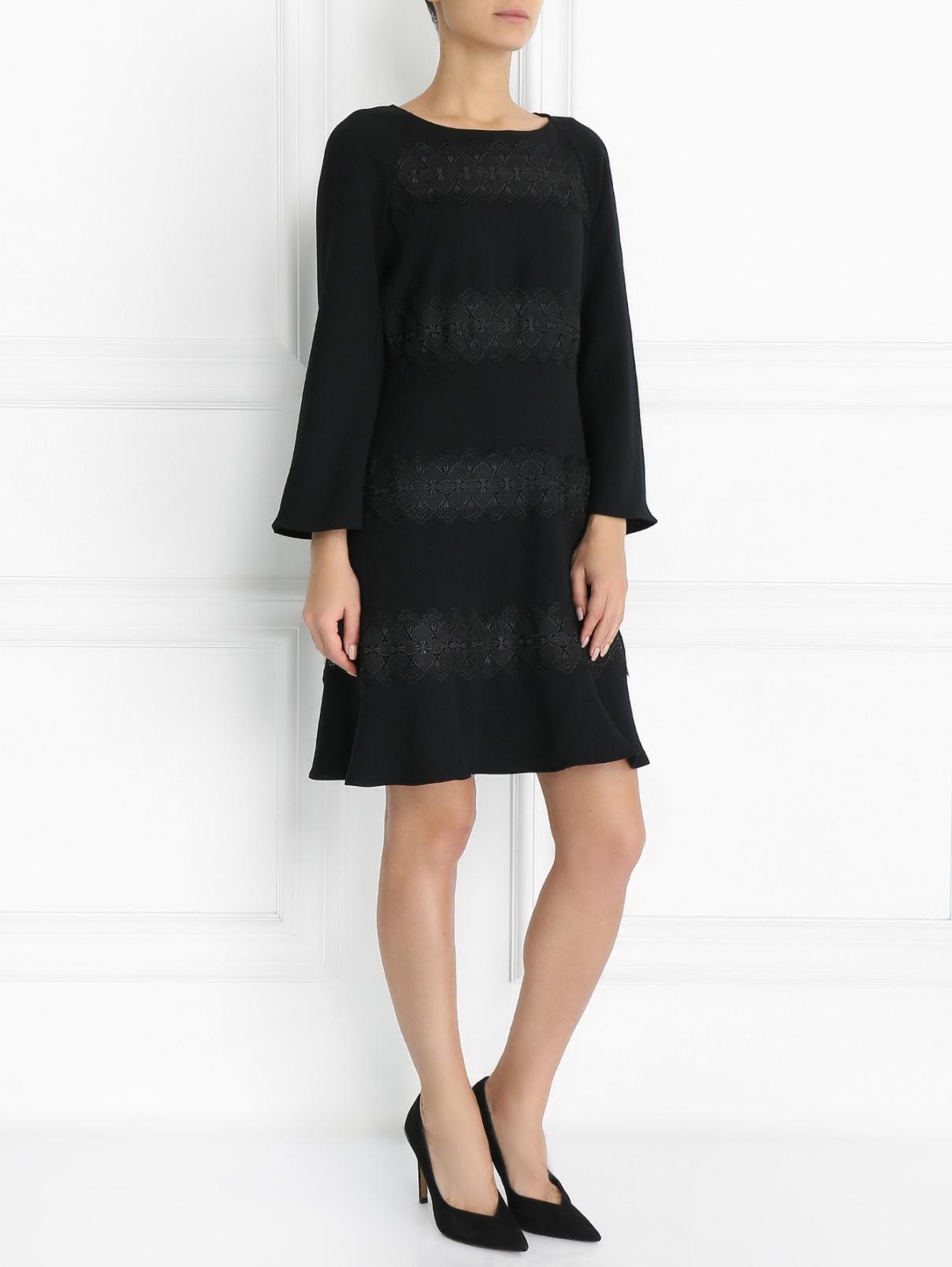 Платье-миди с кружевной отделкой Les Petites...  –  Модель Общий вид