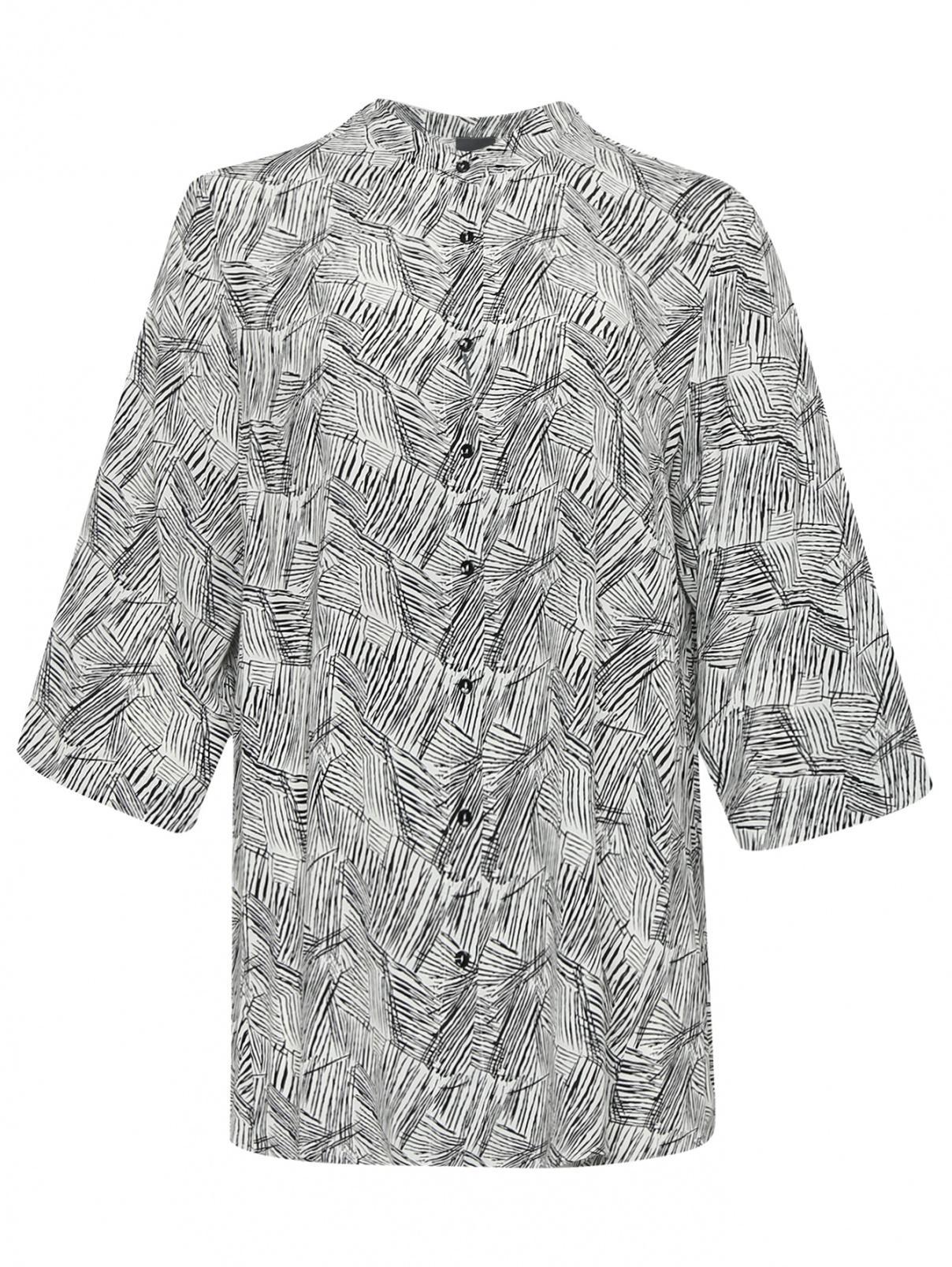 Блуза свободного кроя с узором Persona by Marina Rinaldi  –  Общий вид