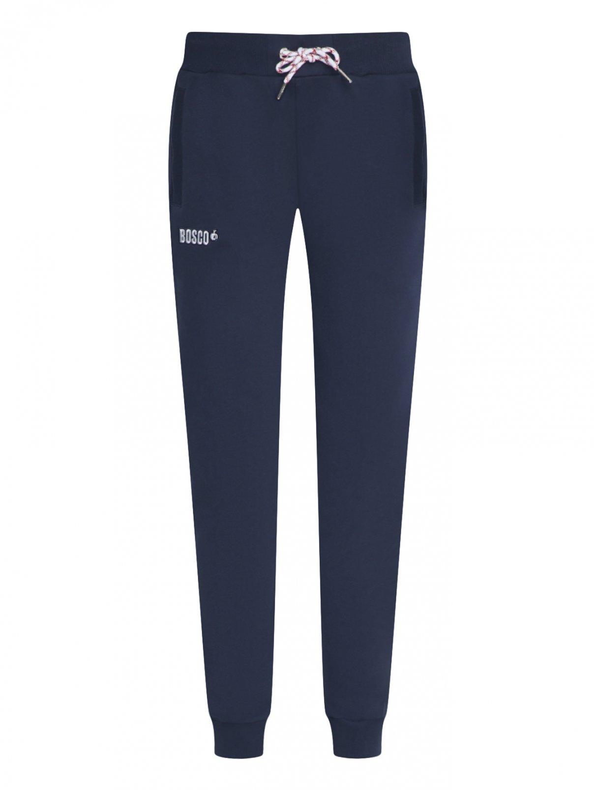 Спортивные брюки из хлопка на резинке и боковыми карманами Bosco Sport  –  Общий вид