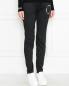 Трикотажные брюки с логотипом Love Moschino  –  МодельВерхНиз
