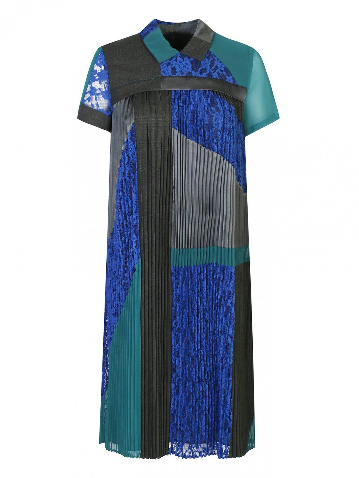 Платье плиссированное с кружевными вставками Weekend Max Mara  –  Общий вид