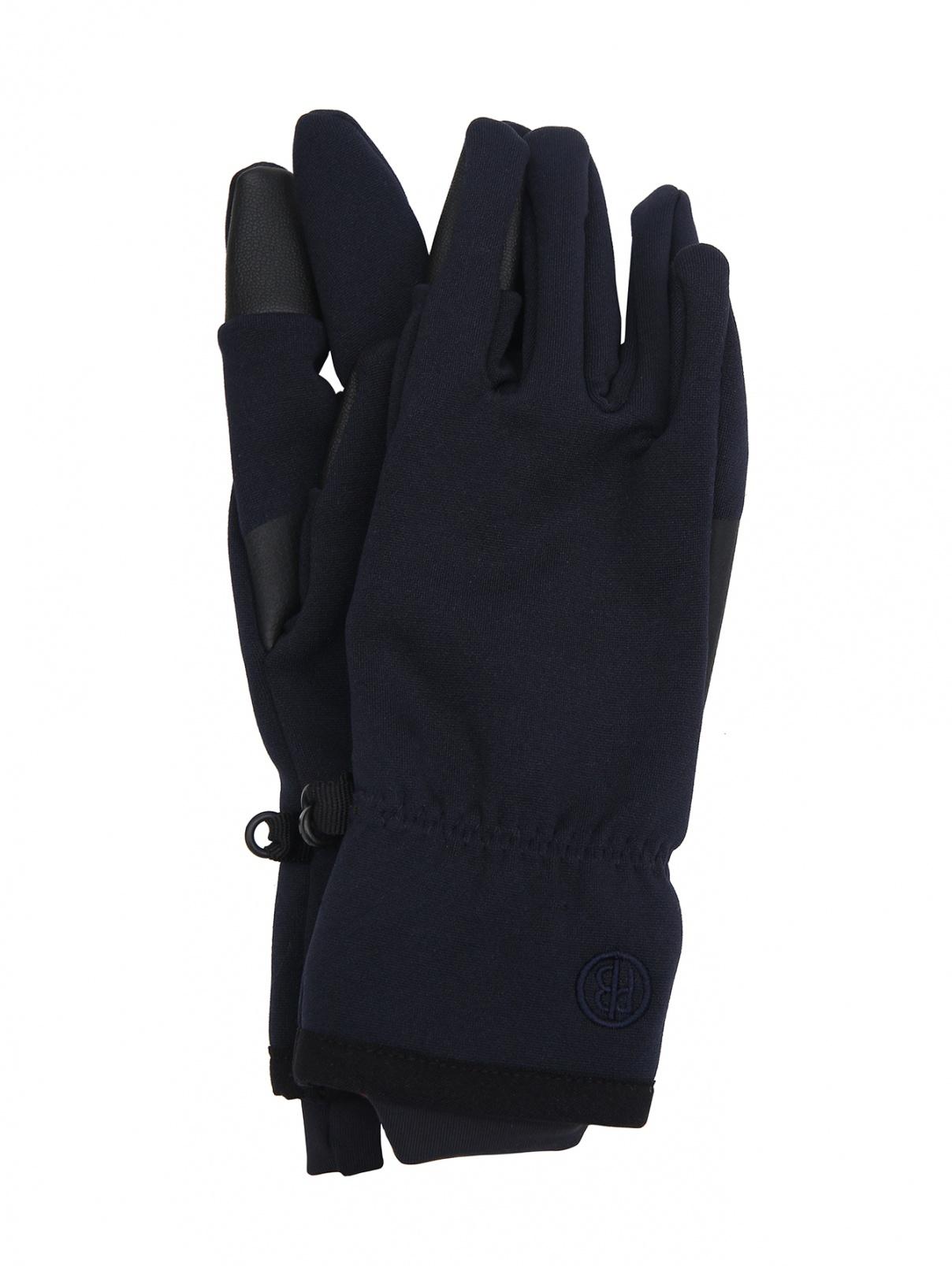 Однотонные перчатки со вставками Poivre Blanc  –  Общий вид