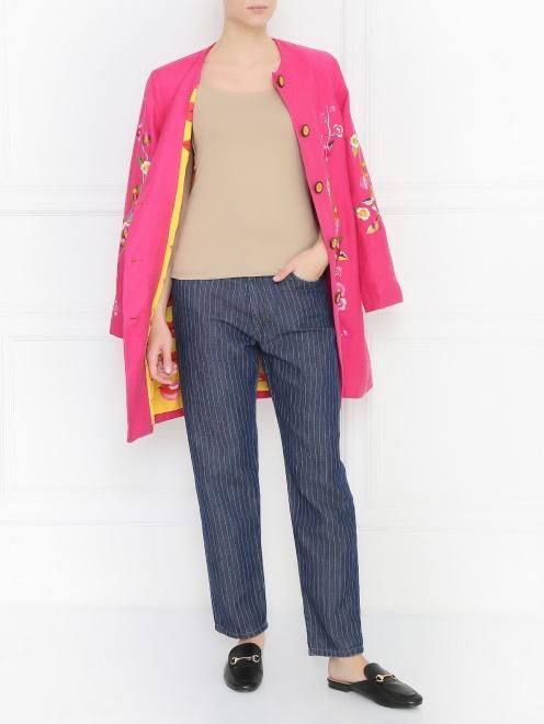 Пальто с узором - Общий вид