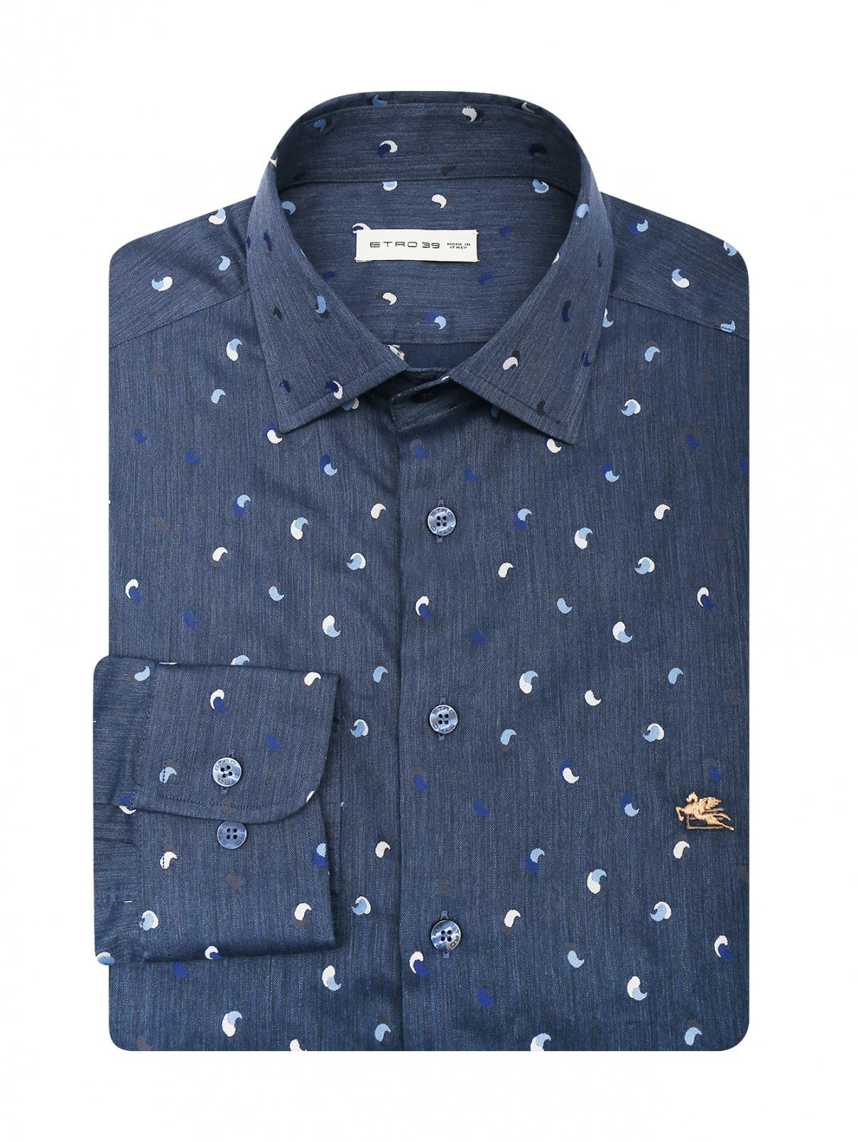 Рубашка из хлопка декорированная вышивкой Etro  –  Общий вид