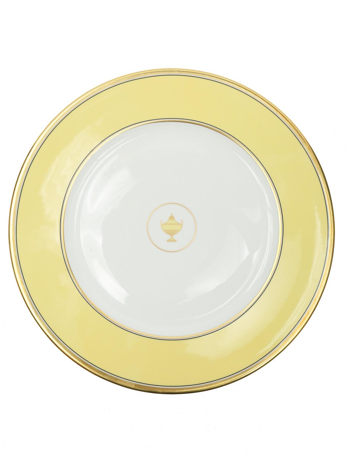 Блюдо круглое с золотой окантовкой Ginori 1735  –  Общий вид