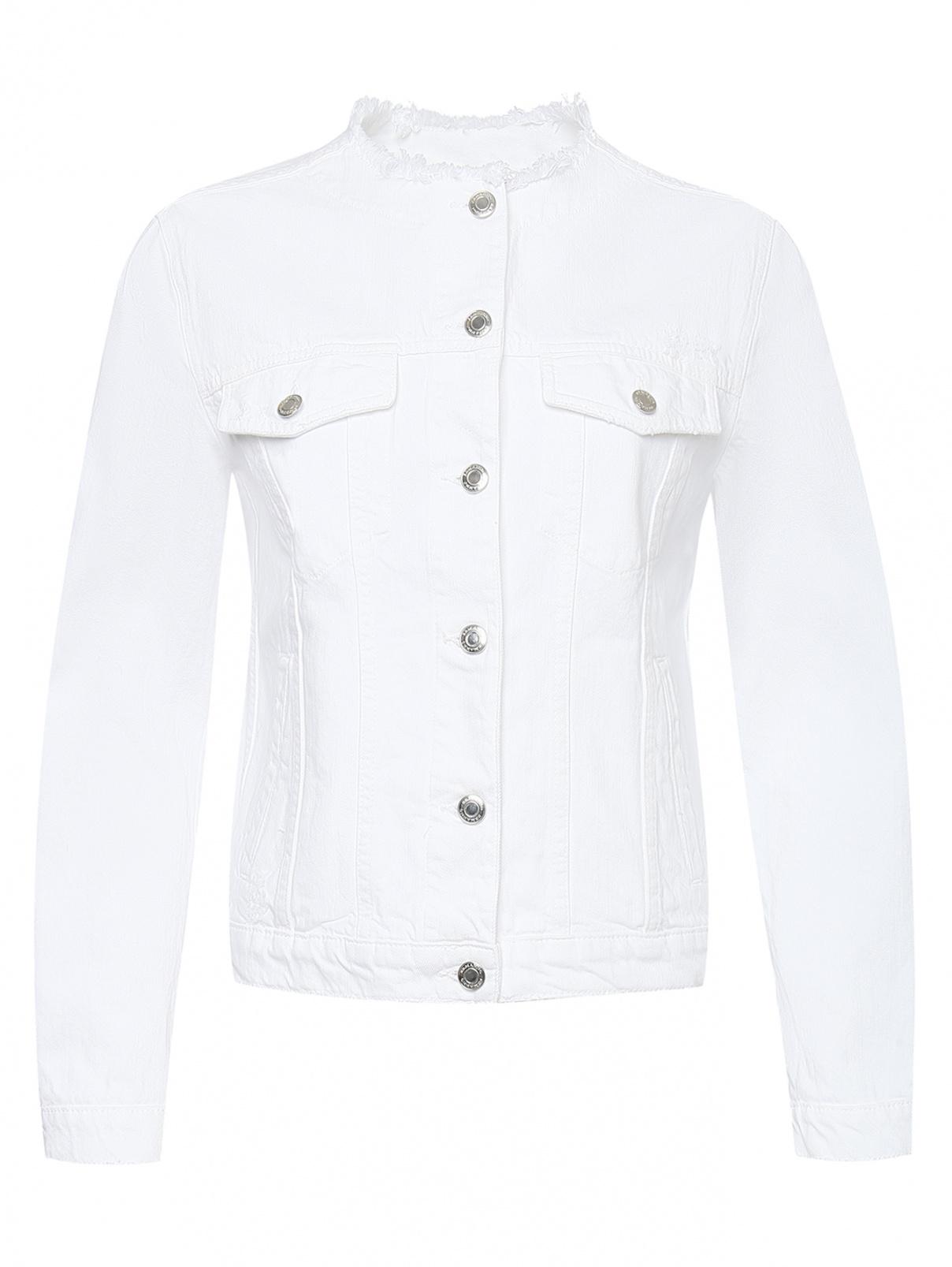 Куртка из светлого денима с принтом Ermanno Scervino  –  Общий вид