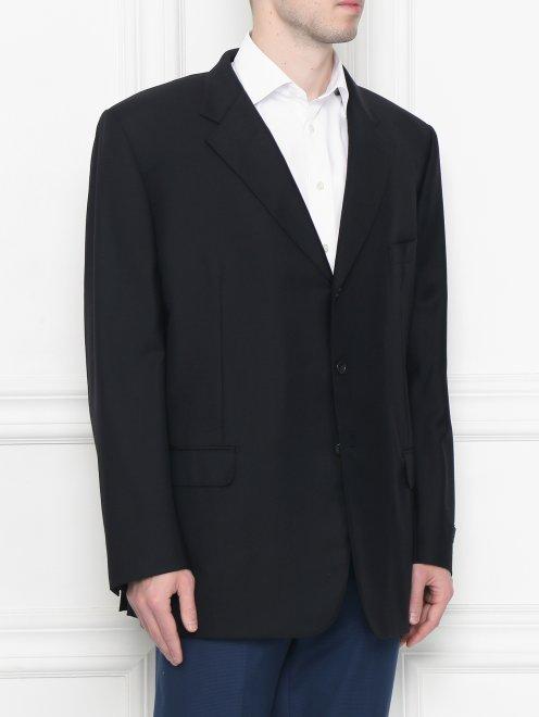 Пиджак однобортный из шерсти - МодельВерхНиз