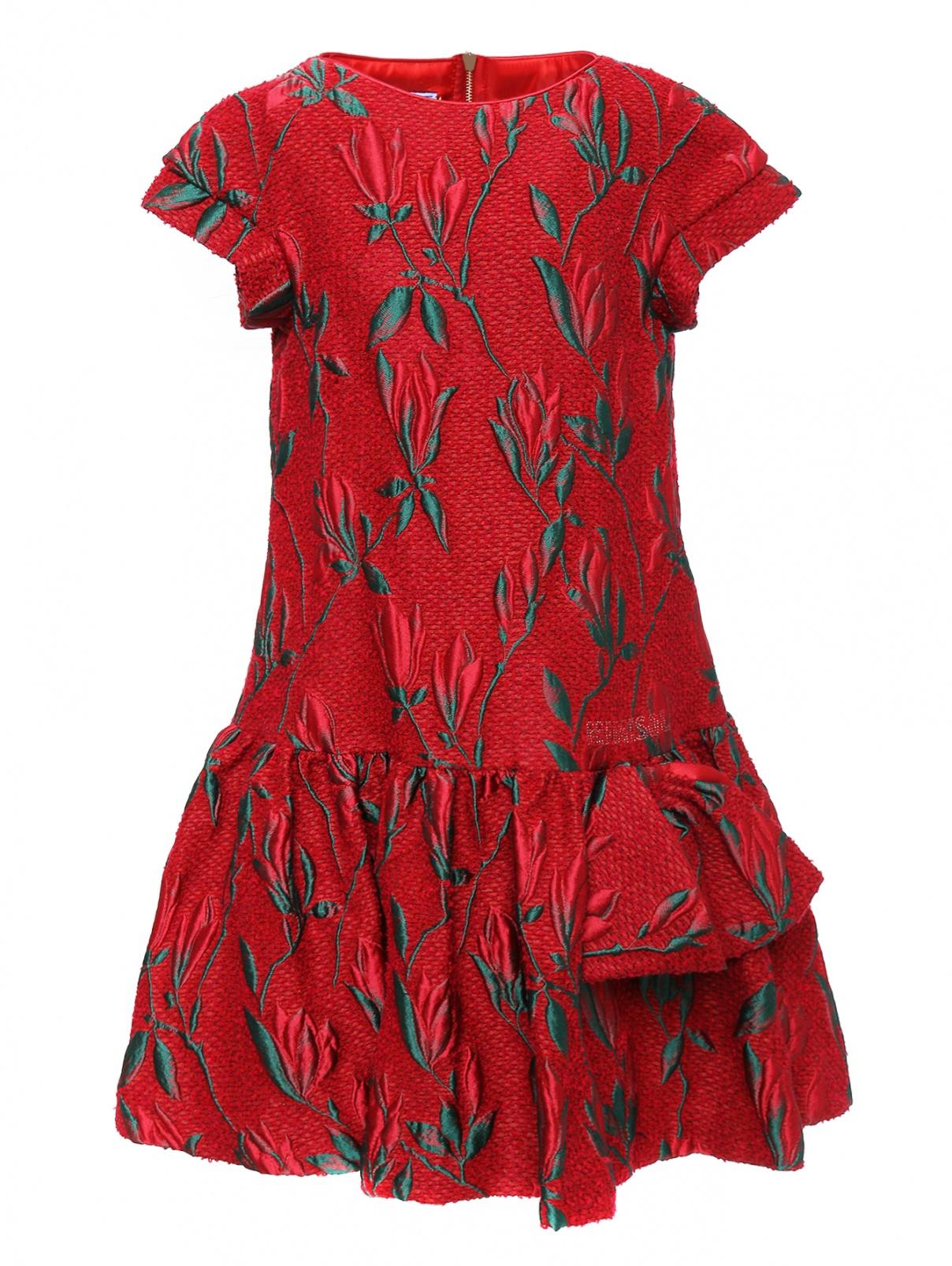 Платье из жаккарда с цветочным узором Mi Mi Sol  –  Общий вид