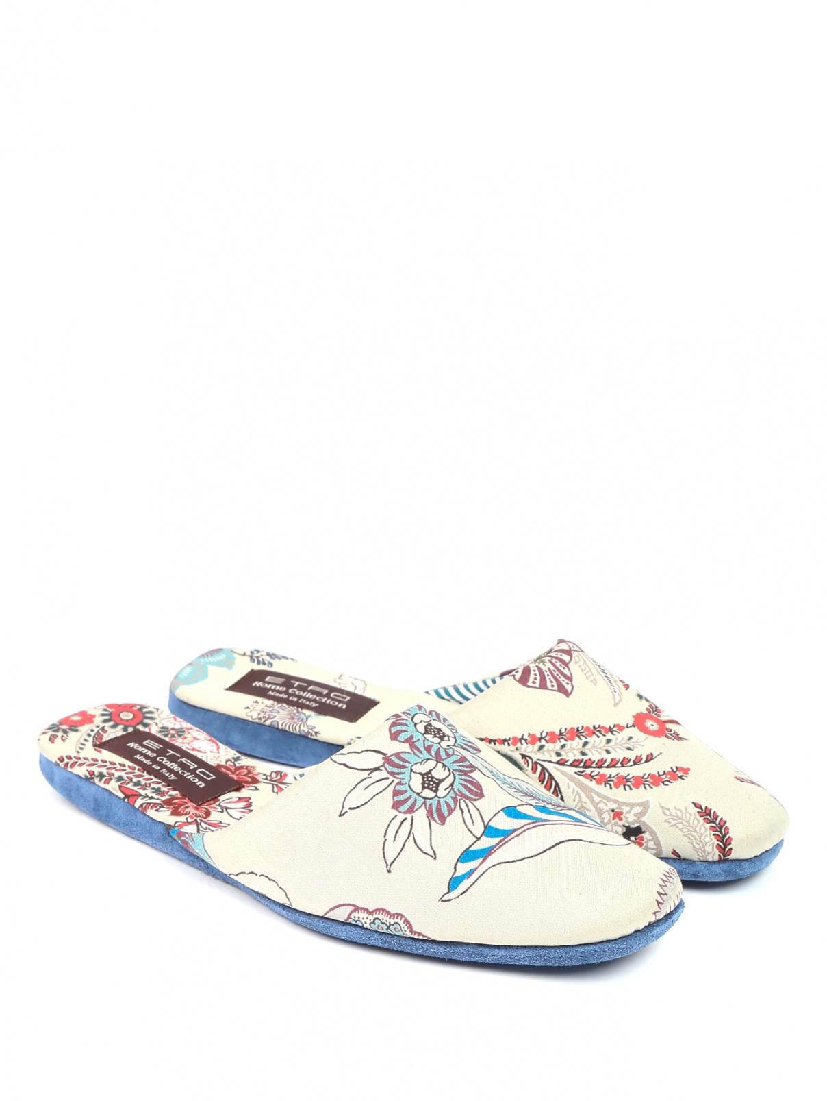 Домашние туфли из хлопка с узором Etro  –  Общий вид
