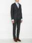 Двубортный костюм из смесовой шерсти в полоску LARDINI  –  МодельОбщийВид1