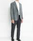 Пиджак однобортный из шерсти с узором LARDINI  –  Модель Общий вид