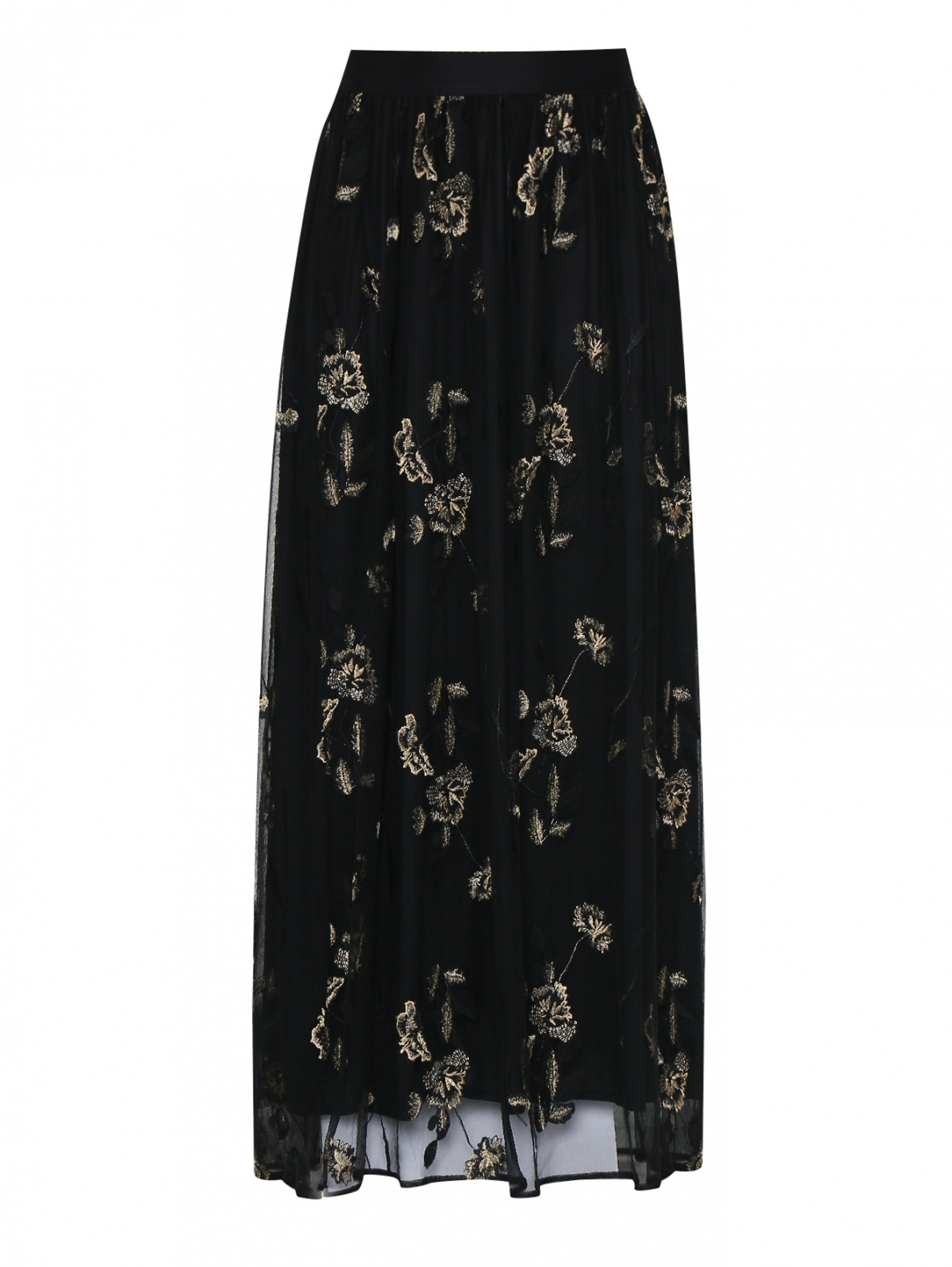 Юбка из сетки с вышивкой Marina Rinaldi  –  Общий вид