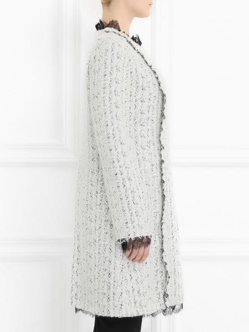 Пальто с кружевной отделкой - Модель Верх-Низ2