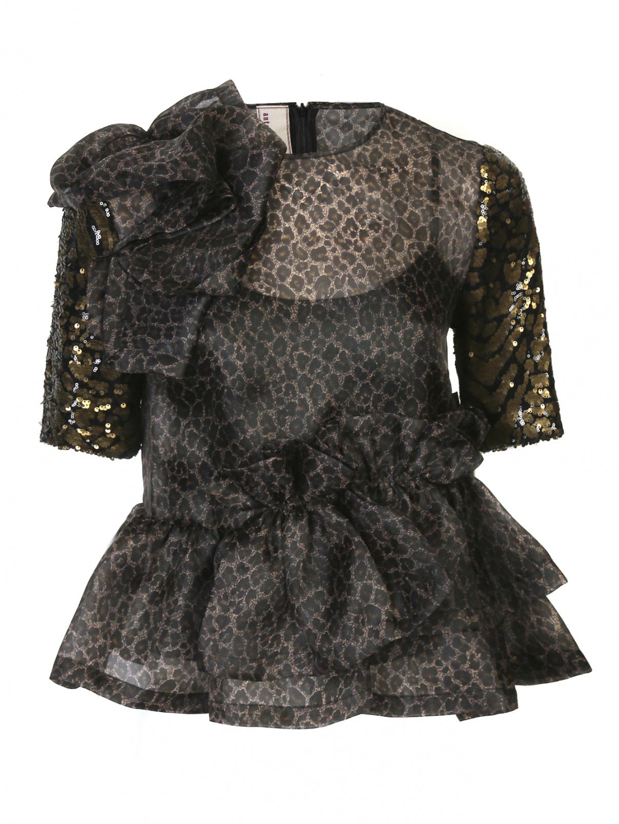 Блуза свободного кроя с узором декорированная пайетками Antonio Marras  –  Общий вид