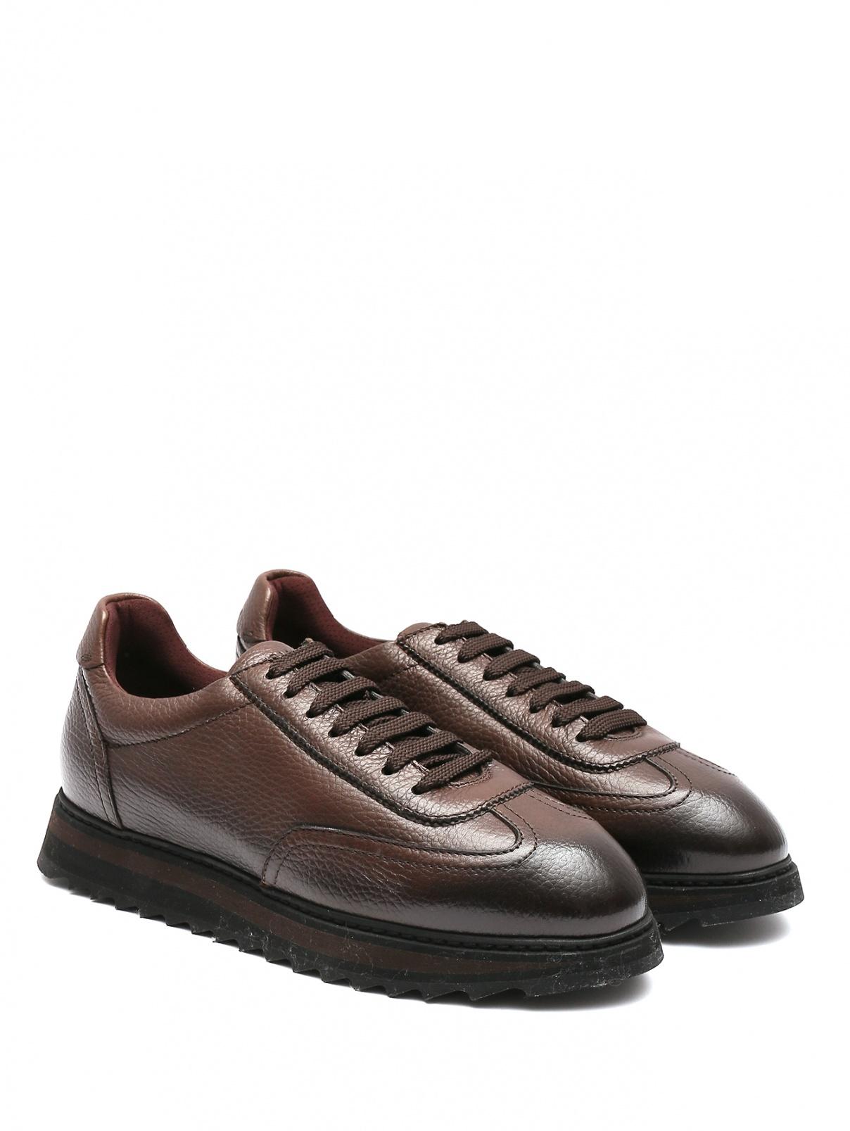 Кроссовки из фактурной кожи на шнуровке Doucal's  –  Общий вид
