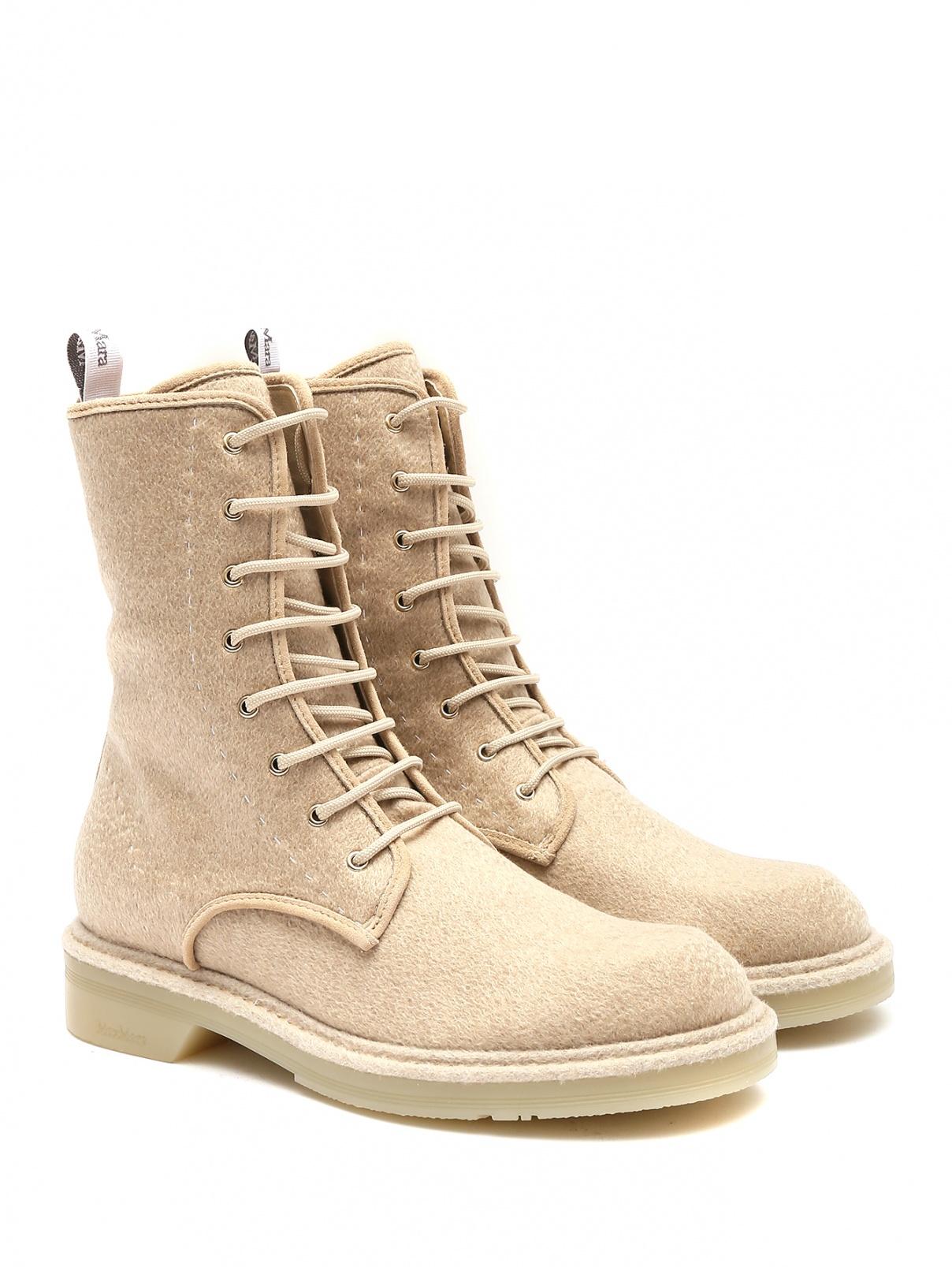 Ботинки из кашемира на шнурках Max Mara  –  Общий вид