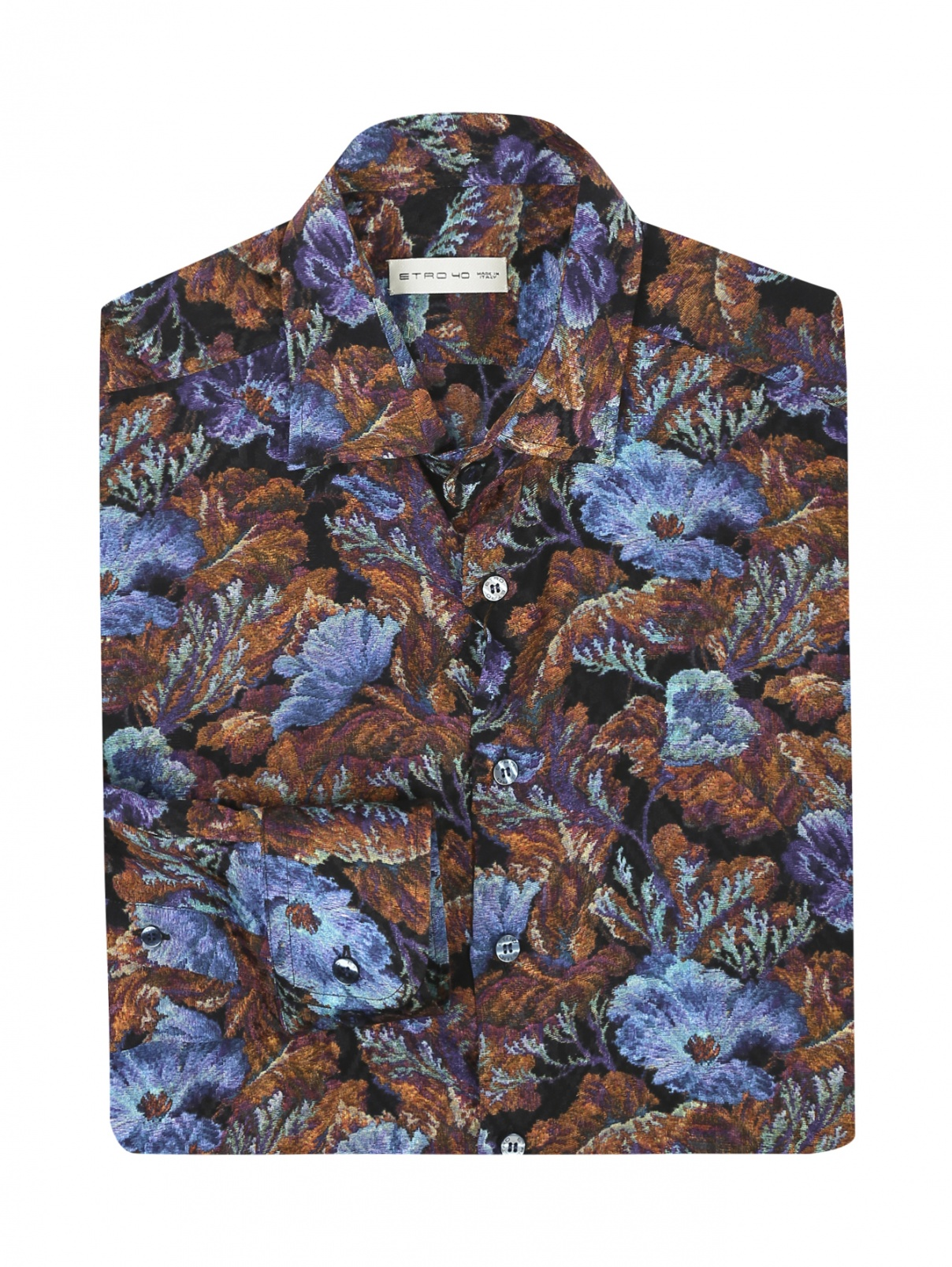 Рубашка из шелка с узором Etro  –  Общий вид