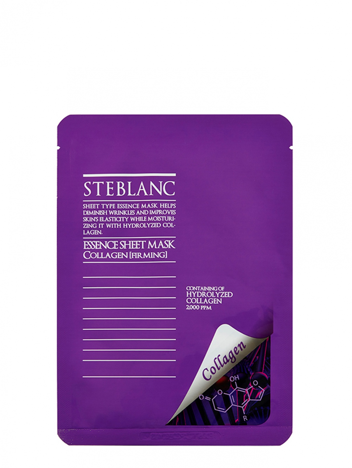 Essence Sheet Mask Collagen / Тканевая маска для лица укрепляющая с гидролизованным коллагеном 25 мл STEBLANK  –  Общий вид
