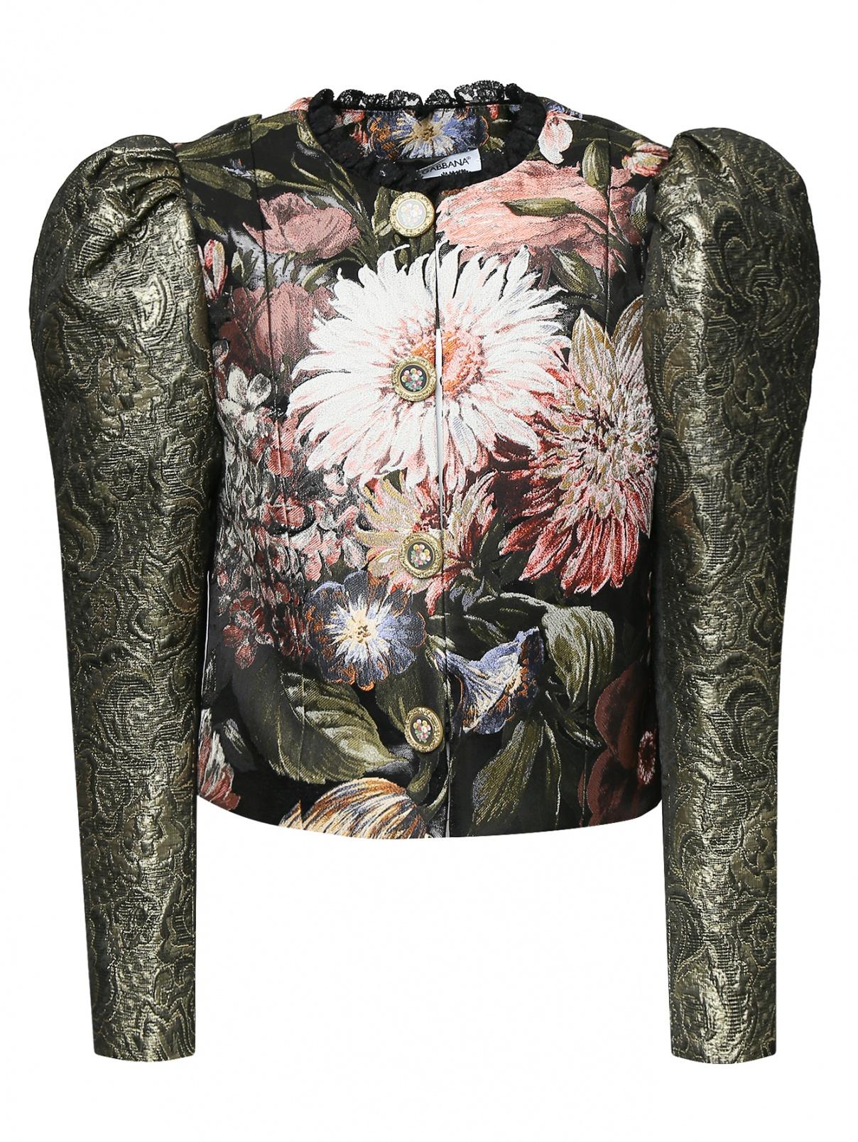 Жакет с узором и декоративными пуговицами Dolce & Gabbana  –  Общий вид