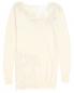 Удлиненный кашемировый пуловер украшенный кружевом Ermanno Scervino  –  Общий вид