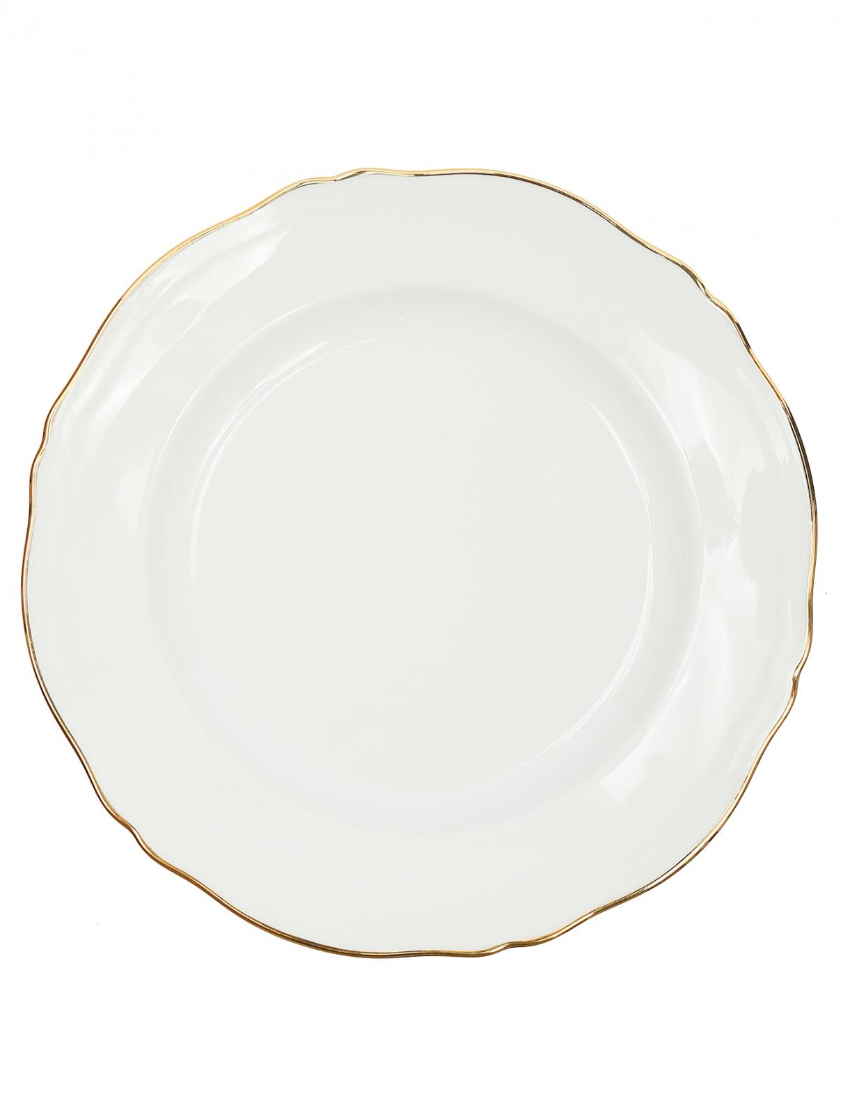 Тарелка десертная с золотой окантовкой Richard Ginori 1735  –  Общий вид