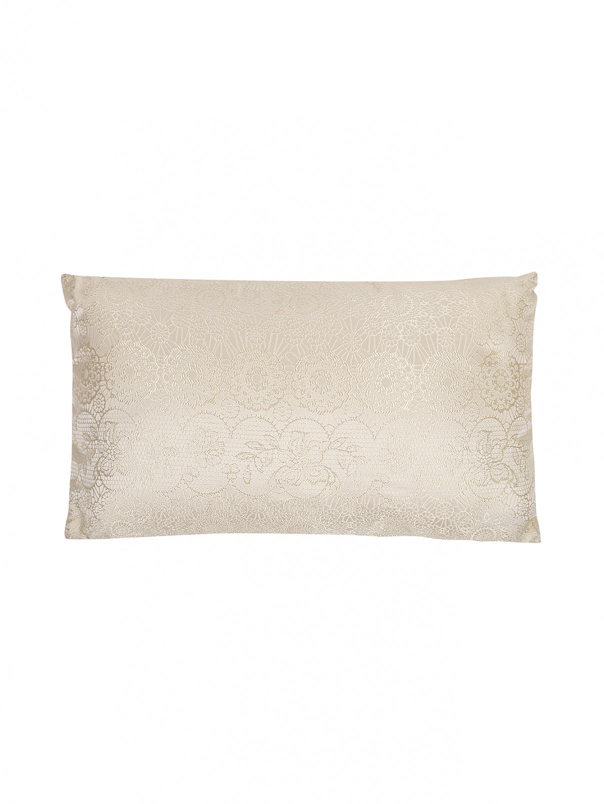 Подушка из текстурной ткани с растительным орнаментом 30 x 50 La Perla  –  Общий вид