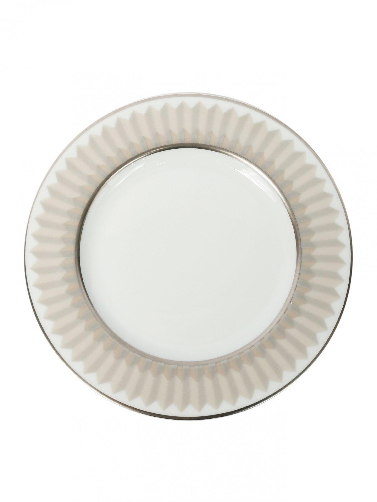 Тарелка хлебная из фарфора с геометрическим узором Haviland  –  Общий вид
