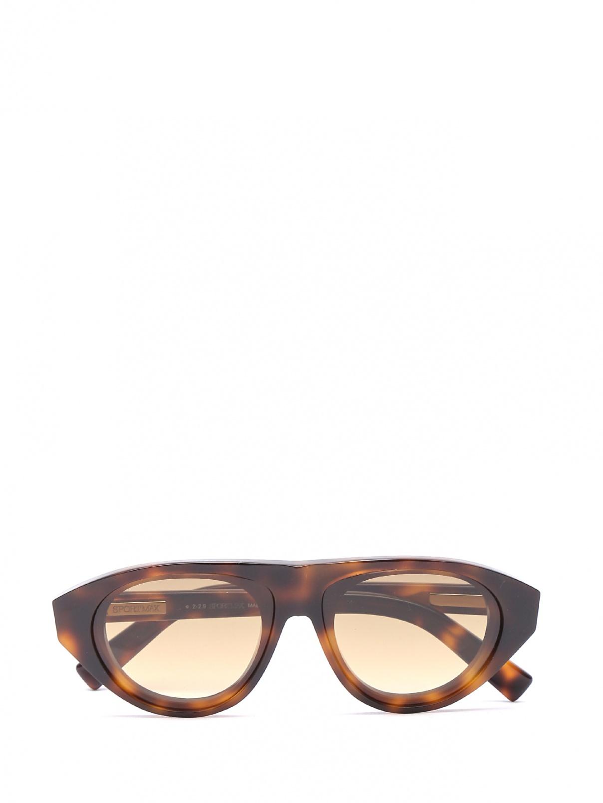 Очки солнцезащитные в пластиковой оправе с узором Max Mara  –  Общий вид