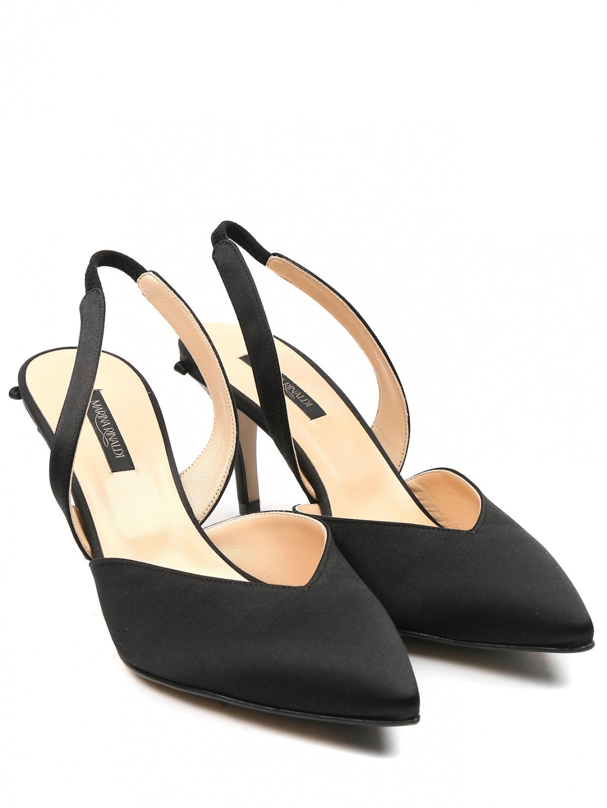 Атласные туфли из кожи и текстиля Marina Rinaldi  –  Общий вид
