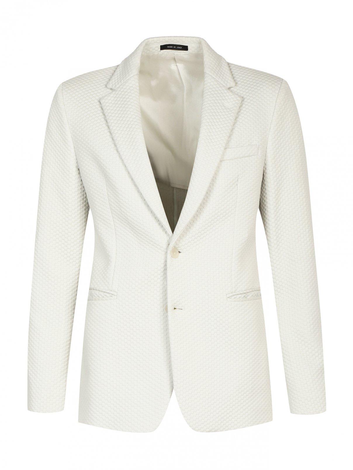 Пиджак однобортный с фактурным узором Emporio Armani  –  Общий вид
