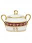 Сахарница из фарфора с узором и золотой окантовкой Ginori 1735  –  Общий вид