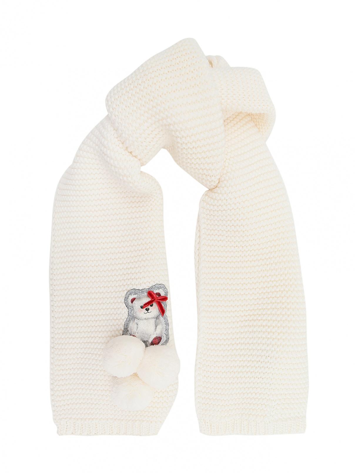 Комплект с аппликацией, шарф и варежки MONNALISA  –  Общий вид