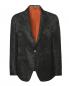 Пиджак однобортный из льна с узором Etro  –  Общий вид