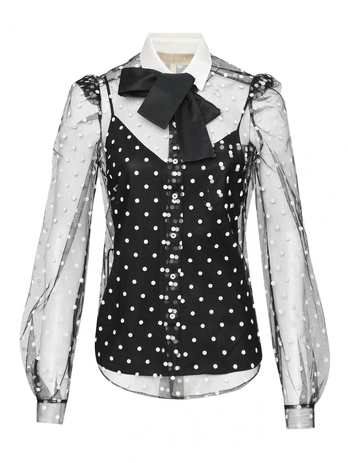 Блуза из смешанного шелка с узором Elie Saab  –  Общий вид