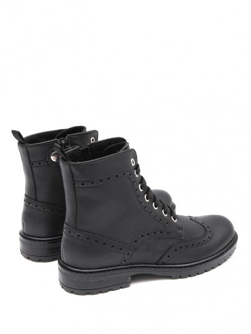 Ботинки кожаные с перфорацией Zecchino d`Oro - Обтравка2