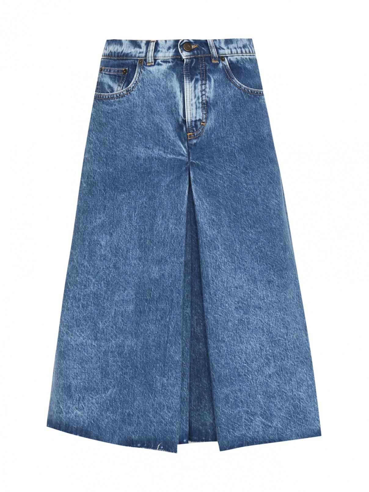 Джинсовые шорты с высокой посадкой Maison Margiela  –  Общий вид